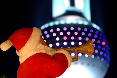 Père Noel à Shanghai