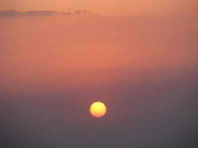 Soleil à 5 heures