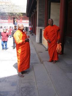 Moines au temple des Lamas